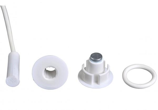 BOSCH ISC-PMC-F3S, Einbaumagnetkontakt Ø 8 mm weiß