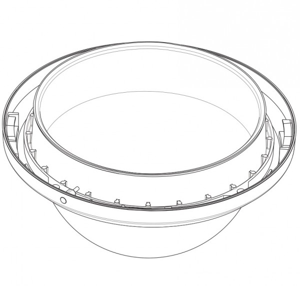 BOSCH VGA-BUBBLE-CCLA, klare, hochauflösende Kuppel