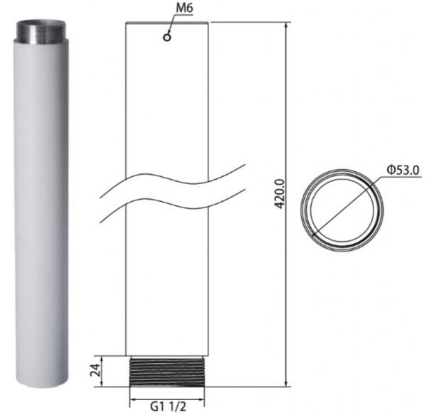 lunaSystem ZU1445, Verlängerung für Deckenhalter