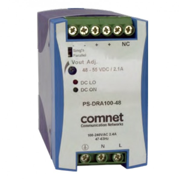 COMNET PS-DRA100-48A, Netzteil, 48VDC, 2,1A, 100W
