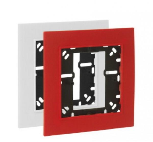 ESSER Montagerahmen für kl. Handmelder rot und weiß, 704967