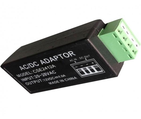 SANTEC VACDC-12V-1A, AC-DC Konverter AC 24V->DC12V