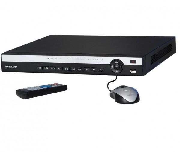 lunaHD DVR28216-4K, 16-Kanal Tribrid-Rekorder 4K