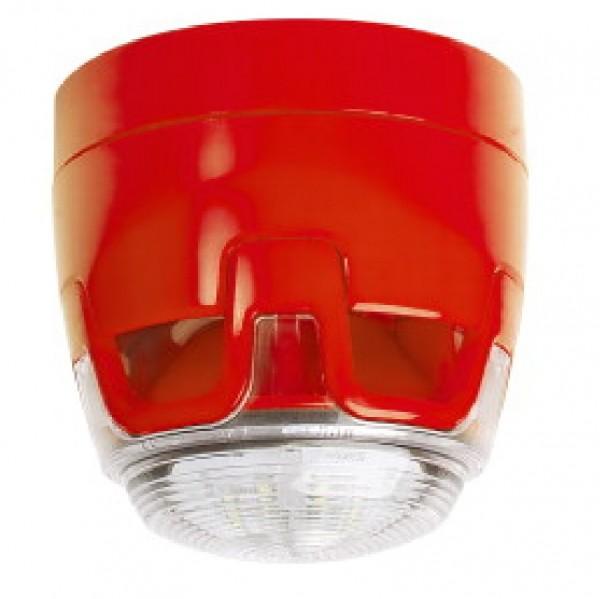 ESSER CWSS-RR-S5, Kombisignalgeber rot, roter Blitz