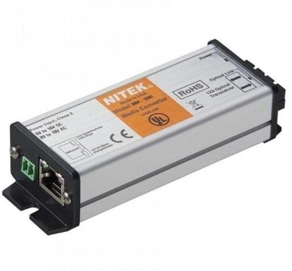 NITEK MS-1000, Medienkonverter 1 Port Single Mode 10/100/1000