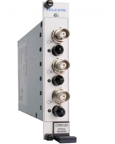 TELESTE 3-Kanal-Glasfaser-Videoempfänger, CRR103