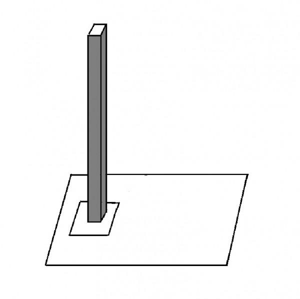 Honeywell 033096, Vierkantprofil-Mast, schwarz, mit Platte