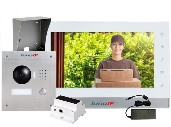 lunaIP Video-Türsprechanlage, 2-Draht-Paket Türstation AP