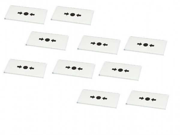 SATEL Ersatzscheiben für ROP-100/-101 Handmelder