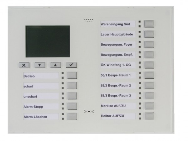 Honeywell LED/LCD Bedienteil f. MB-Secure, weiß, 013001