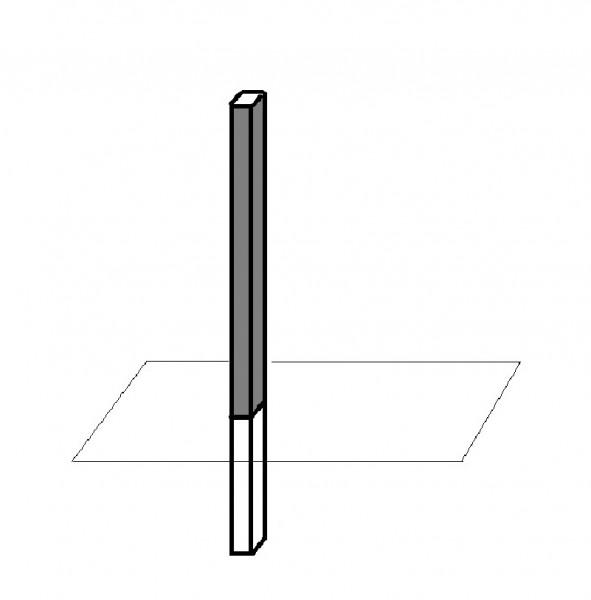 Honeywell Vierkantprofil-Mast, schwarz, zum Einbetonieren, 033095