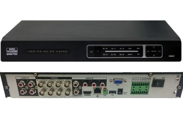 SANTEC SPVR-4811I, 8-Kanal-4K-Pentabrid-Digital-Rekorder,
