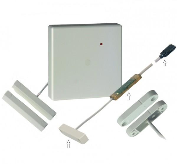 Honeywell 032223.17, IDENTLOC Alarmglassensor m. 4-poliger Buchse