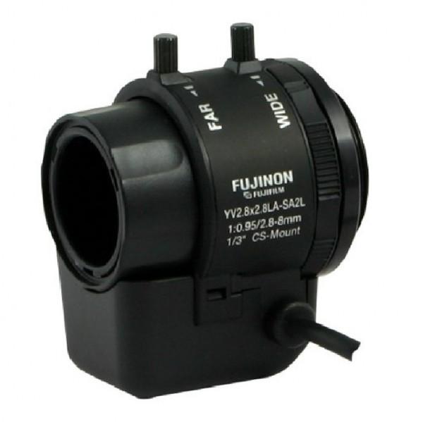 "FUJINON YV2.8X2.8LA-SA2L, 1/3"" DC-Objektiv 2,8-8 mm"