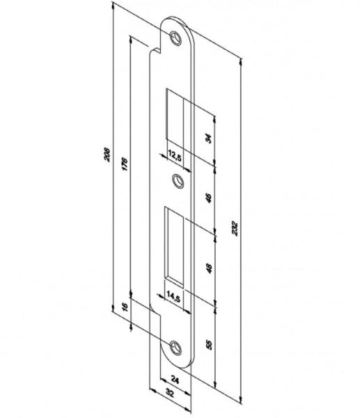 Honeywell 022082.10, Lappenschließblech für Motorschloss 509X