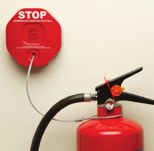 D-Secour STI 6200, Feuerlöscher-Entnahme-Alarm