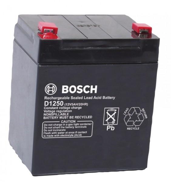 BOSCH D1250, Notstrombatterie Akku 12 V 5 Ah