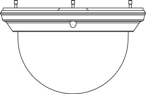 BOSCH NDA-4020-PTBL, getönte Kuppel für AUTODOME Kamera 4000i