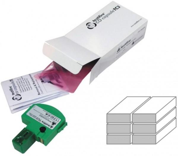 Testifire 6 Stück CO-Kartuschen TC3-003