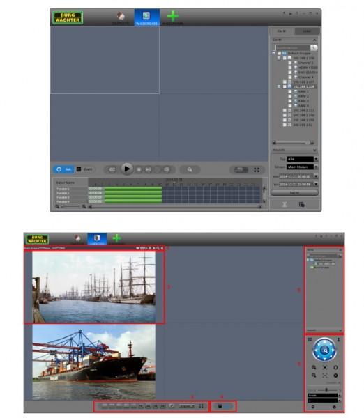 SANTEC BW-IP-CVI-VMS, VMS-Software für Kameras/Rekorder
