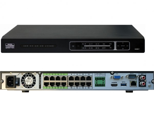SANTEC SNVR-31642E, 16-Kanal-4K/H.265 NW-Rekorder