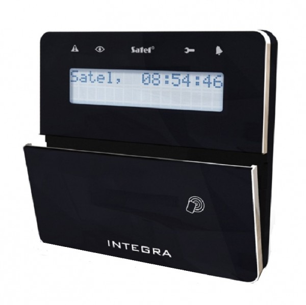 SATEL INT-KLFR-BSB, LCD-Bedienteil + Leser, schwarz