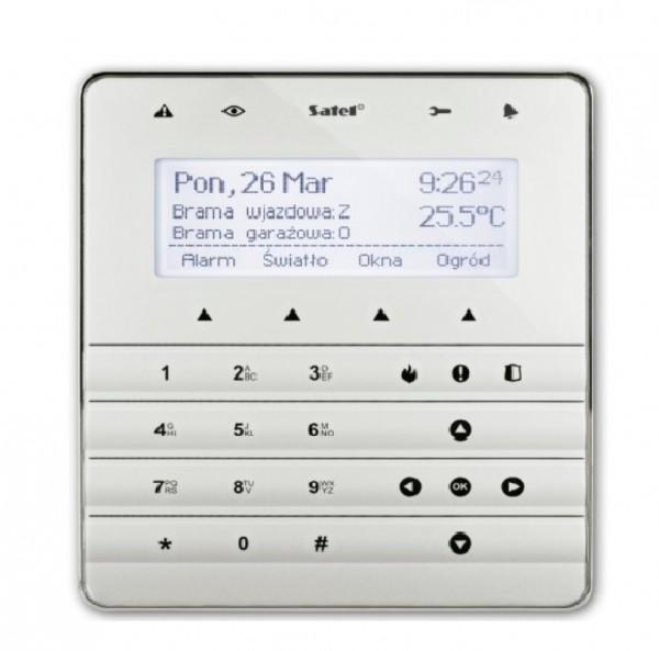 SATEL INT-KSG (DE), Sensor-Bedienteil, silber