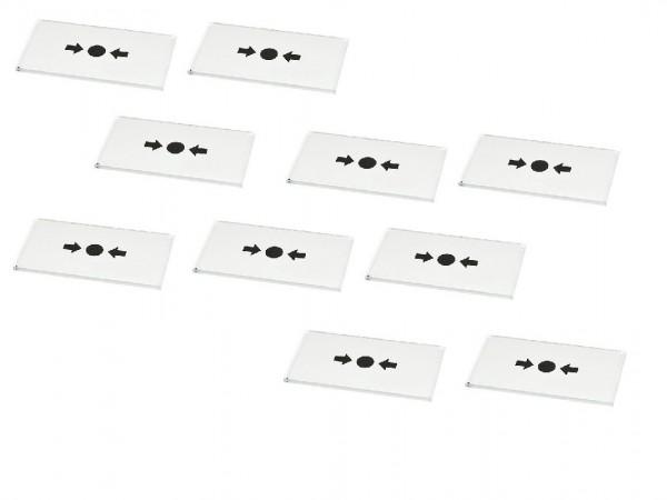 ASL-Ademco Ersatzglasscheiben für Handmelder