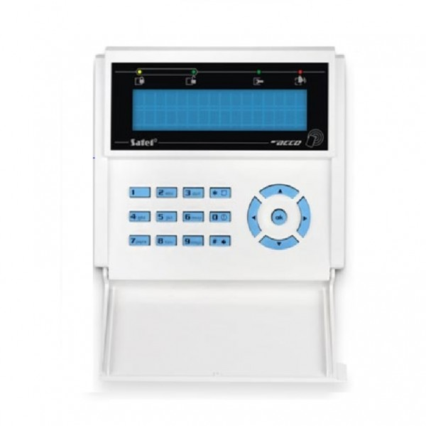 SATEL ACCO-KLCDR-BW, LCD-Bedienteil weiß