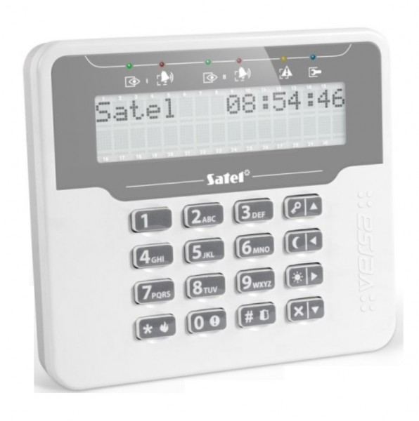 SATEL VERSA-KWRL2 (DE), Funk-LCD-Bedienteil + Leser weiß