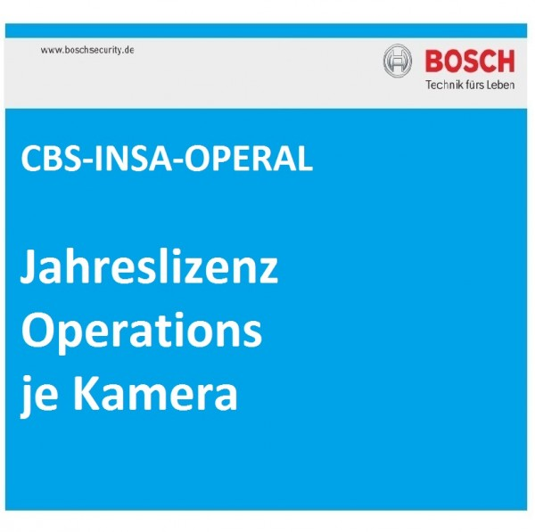 BOSCH CBS-INSA-OPERAL, Jahreslizenz Operations je Kamera