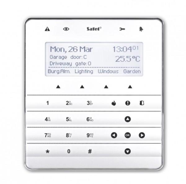 SATEL INT-KSG (DE), Sensor-Bedienteil, weiß