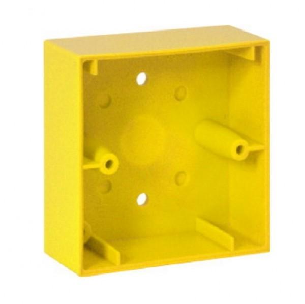 ESSER 704982, gelbes Montagegehäuse aP für kl. MCP Elektronikmodul