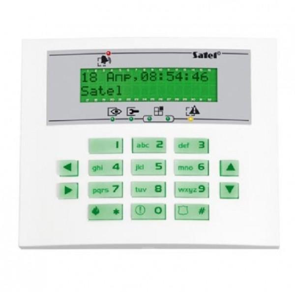 SATEL INT-KLCDS-GR (DE), LCD-Klartext-Bedienteil grün