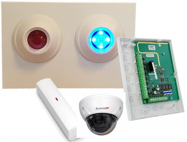 ASL-ADEMCO Funk-Leuchtanzeige-Set Silent BOB+Kamera LunaIP DA5400