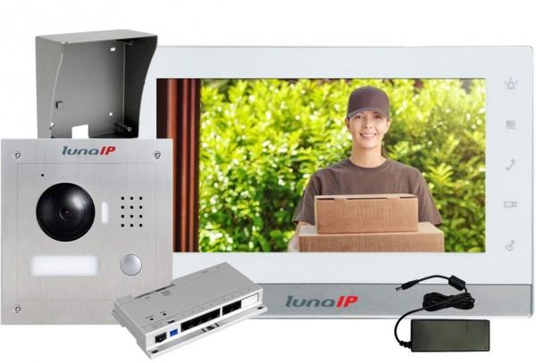 lunaIP Video-Türsprechanlage auf Putz, IP-Paket Türstation AP
