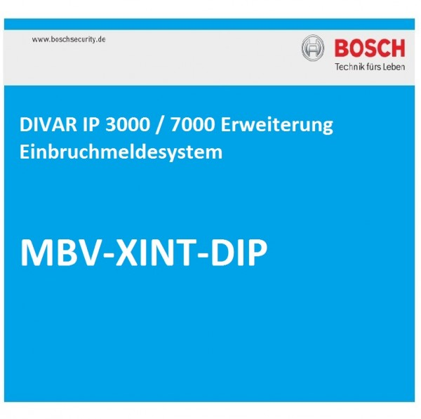 BOSCH MBV-XINT-DIP, DIVAR IP, Erweiterung Einbruchmeldesystem B/G