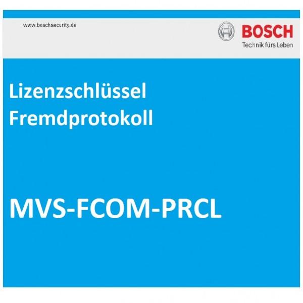 BOSCH MVS-FCOM-PRCL, Lizenzschlüssel Fremdprotokoll