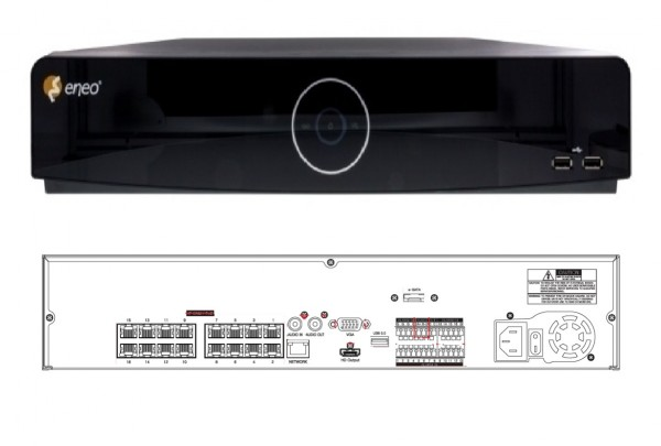 eneo IER-38R320005A, 32 Kanal Netzwerk-Videorekorder