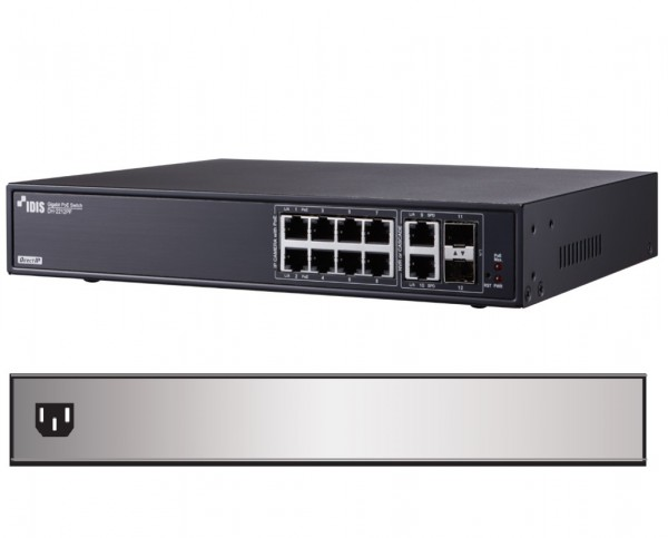 IDIS 12-Port Gigabit SFP PoE-Switch 140W, DH-2112PF