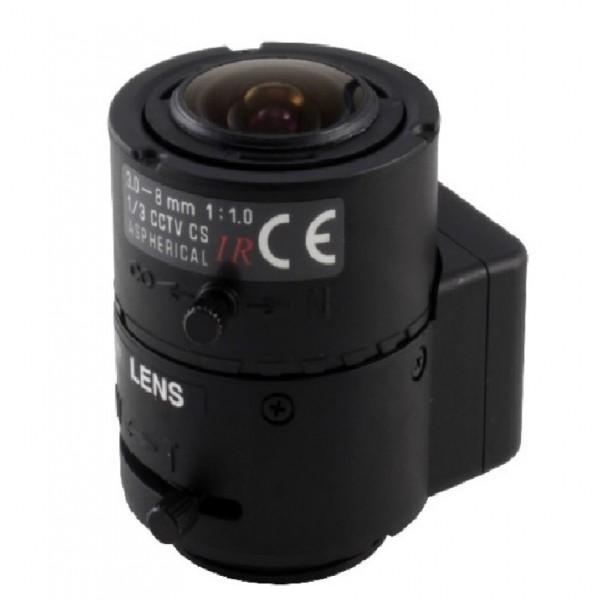 "eneo F03Z2.6DC-NFSHR, 1/3"" DC-Objektiv 3-8 mm"