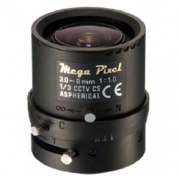 """TAMRON M13VM308, 1/3"""" Megapixel Varioobjektiv 3-8 mm"""