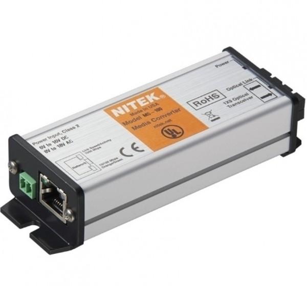 NITEK MS-100, Medienkonverter 1 Port Single Mode SC